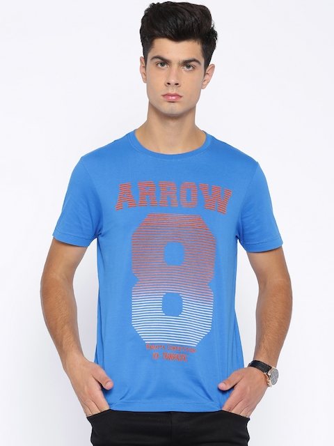 Arrow Sport Blue Printed T-shirt  available at myntra for Rs.399