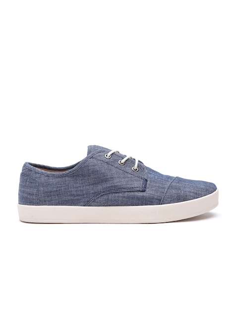 TOMS Men Blue Chambray Denim Sneakes
