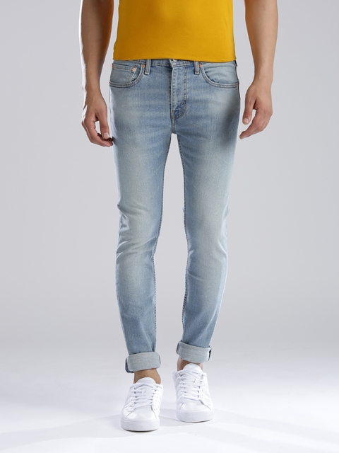 Levi's Blue Super Skinny Low-Rise Jeans 519  available at myntra for Rs.2379