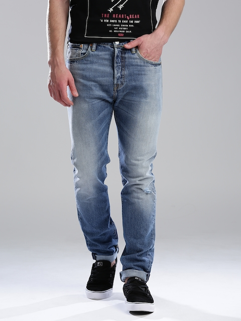 Levi's Blue 501 CT Tapered Fit Jeans  available at myntra for Rs.2870