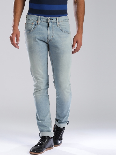 Levi's Blue 65504 Low-Rise Skinny Straight Fit Stretchable Jeans  available at myntra for Rs.2379