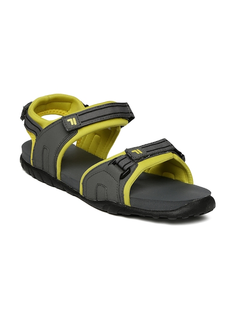 FILA Men Grey & Yellow Sports Sandals