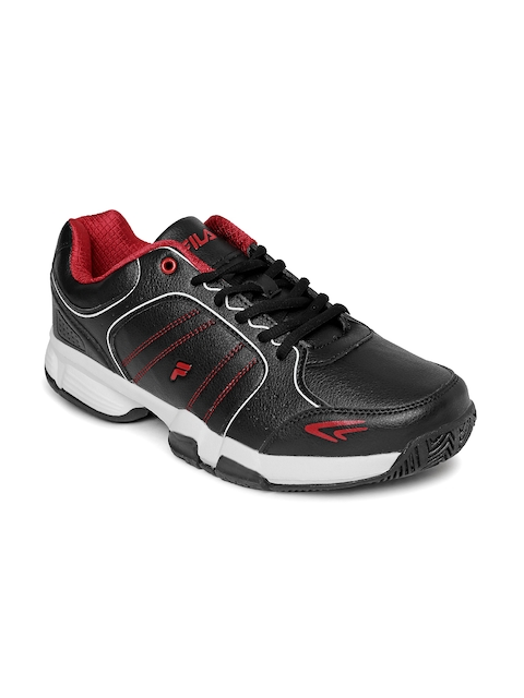 FILA Men Black & Red SET 6 Running Shoes