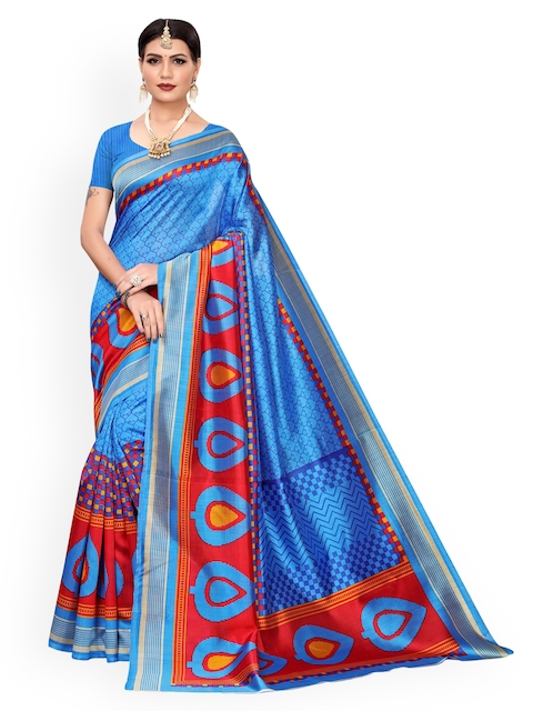 KALINI Blue Printed Saree