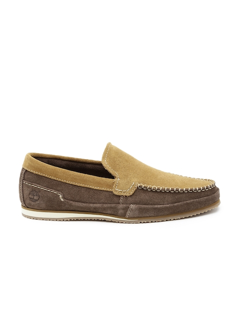 Timberland Men Brown Suede Slip-Ons