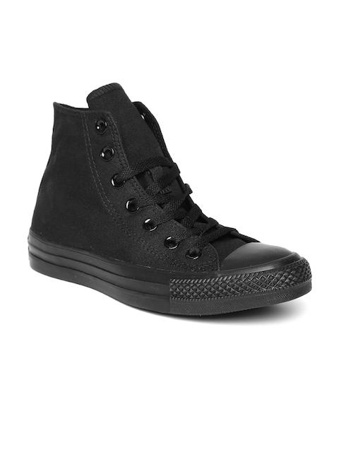 Converse Men Black Canvas Mid-Top Sneakers
