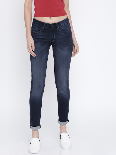Lee Blue Washed Jenny Fit Stretchable Jeans