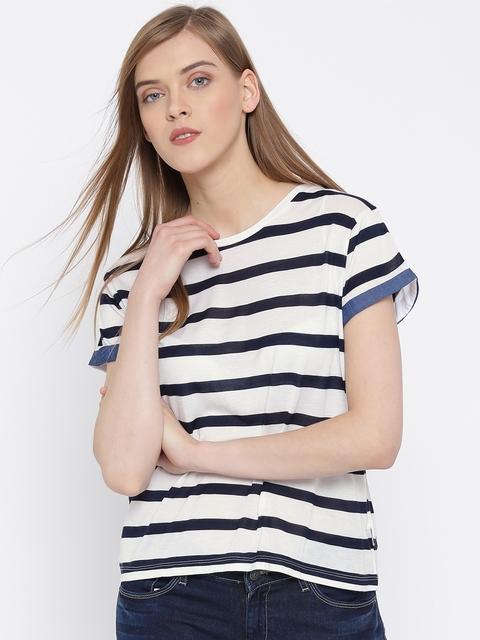 Lee Navy & White Striped T-shirt