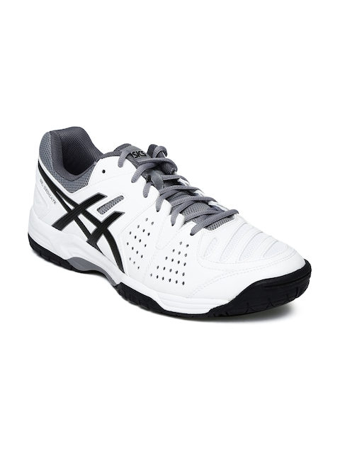 ASICS Men White Gel-Dedicate 4 Tennis Shoes  available at myntra for Rs.3299