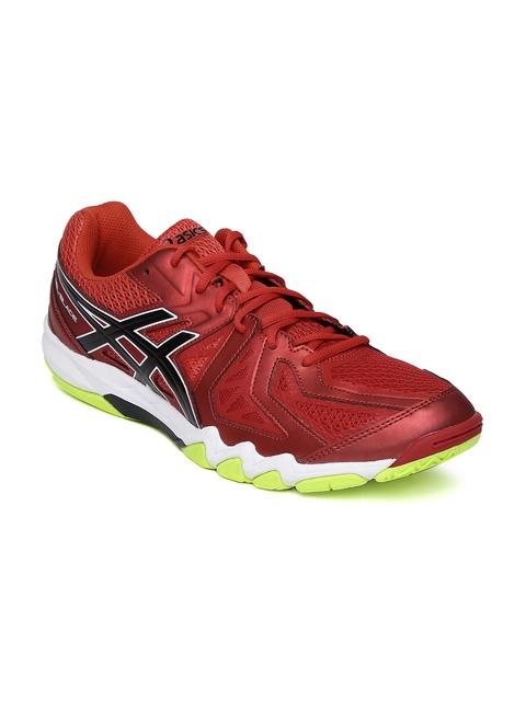 ASICS Men Red Gel-Blade 5 Badminton Shoes