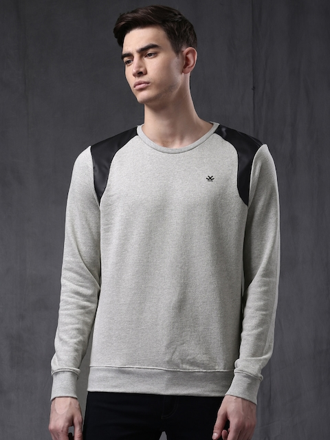 WROGN Grey Melange Sweatshirt