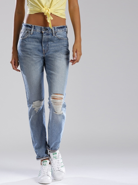 Levi's Blue Slim Fit Jeans 505 C  available at myntra for Rs.3199