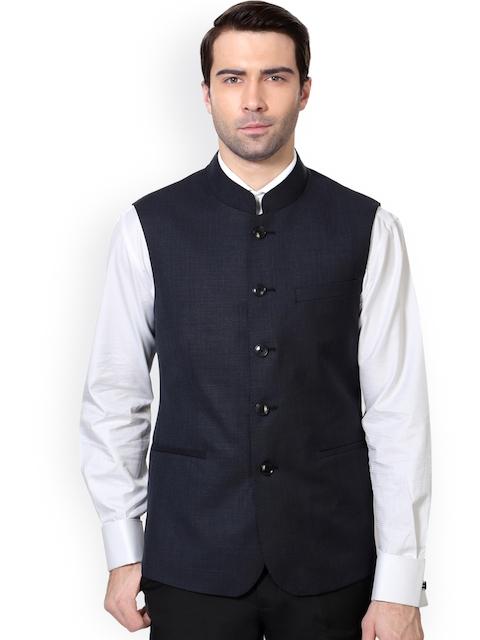Van Heusen Navy Slim Fit Nehru Jacket
