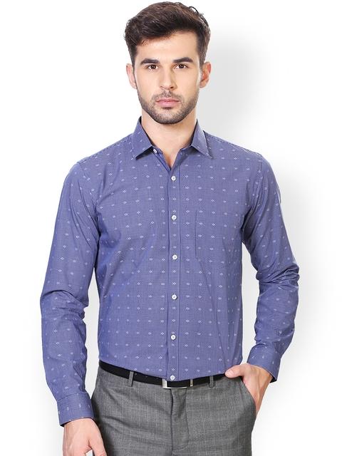 Van Heusen Blue Slim Fit Formal Shirt