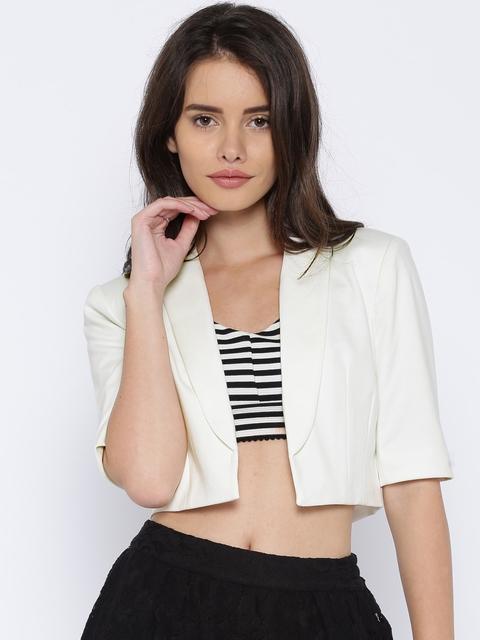 ONLY Off-White Front-Open Bolero Jacket