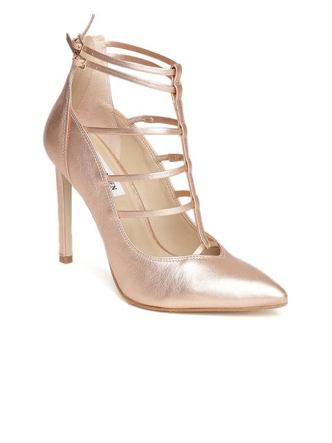 Steve Madden Women Bronze-Toned Solid Sandals