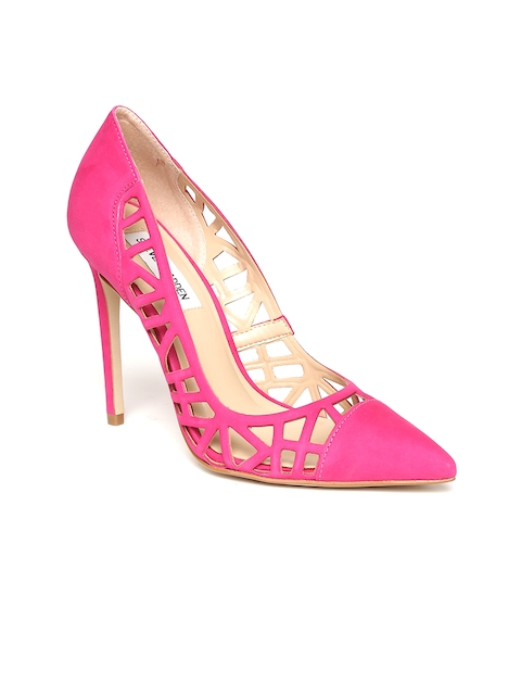 Steve Madden Women Magenta Solid Pumps