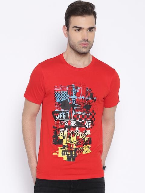 Vans Red Printed T-shirt