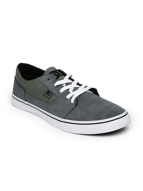 DC Men Grey & Olive Green Tonik Skateboard Casual Shoes
