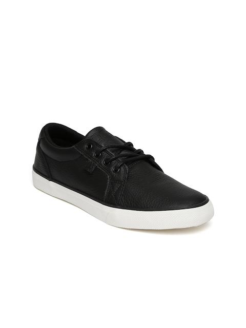 DC Men Black Leather Council Skateboard Casual Shoes