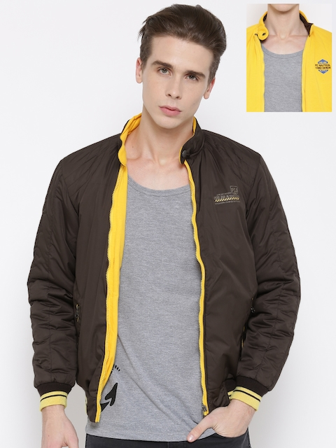 Fort Collins Coffee Brown & Yellow Reversible Jacket