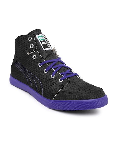 PUMA Men Black & Purple Drongos Sneakers
