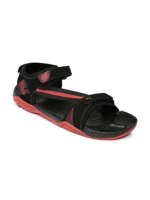 Puma Men Black   Red K9 IDP Sports Sandals 50% off 9788bbd20c6e