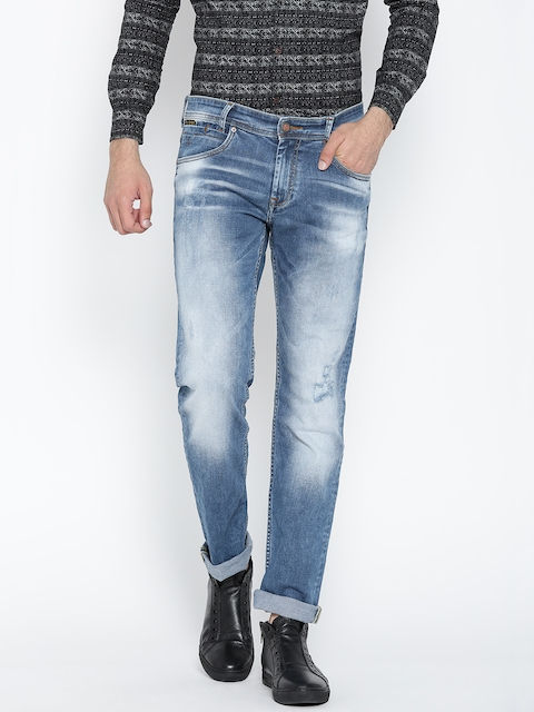 Mufti Blue Narrow Fit Stretchable Jeans