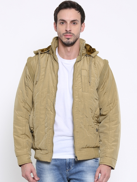 Fort Collins Khaki Bomber Jacket with Detachable Sleeves