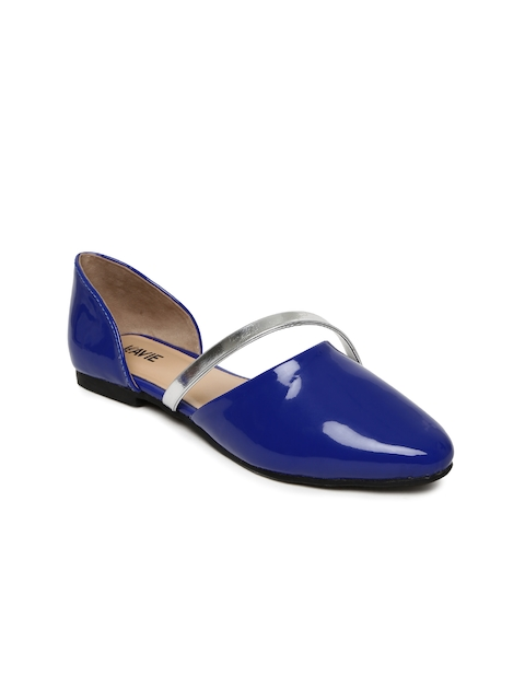Lavie Women Blue Solid Pointed-Toe Flat Shoes