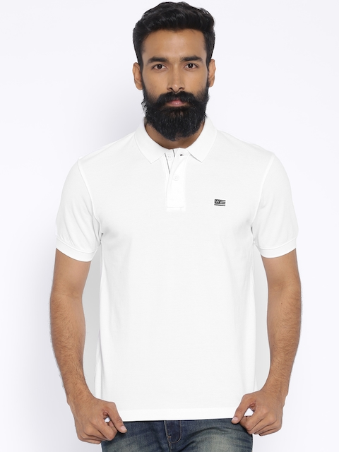 Wrangler White Polo T-shirt