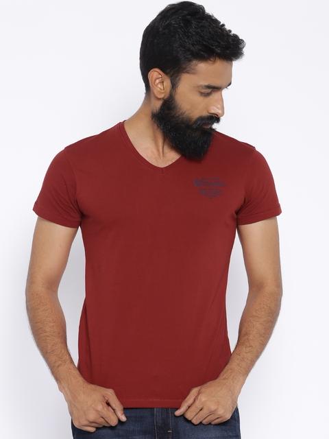 Wrangler Maroon T-shirt