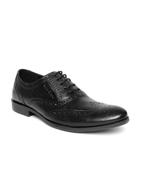 Red Tape Men Black Leather Brogues