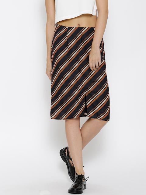 Vero Moda Black Striped Pencil Skirt