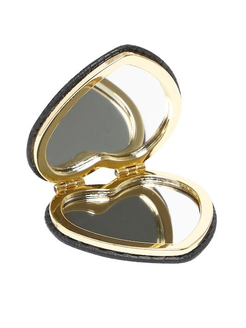 Accessorize Black Heart-Shaped Foldable Mirror