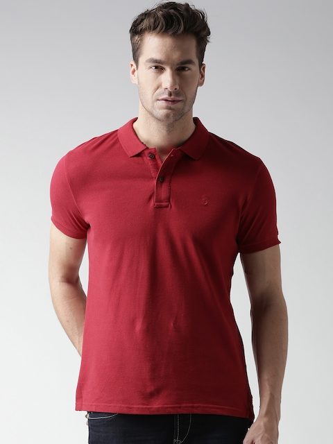 Celio Red Polo T-shirt  available at myntra for Rs.499