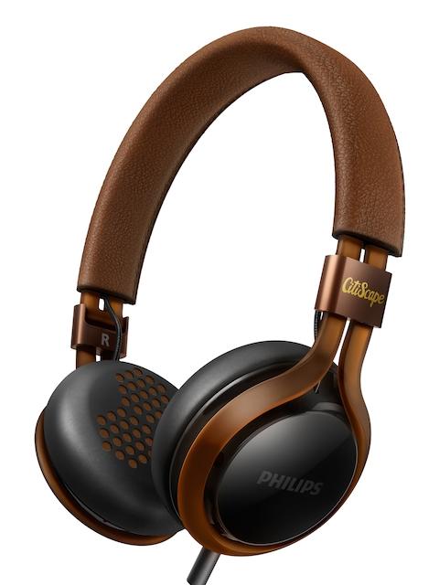 Philips Black & Brown Headphones