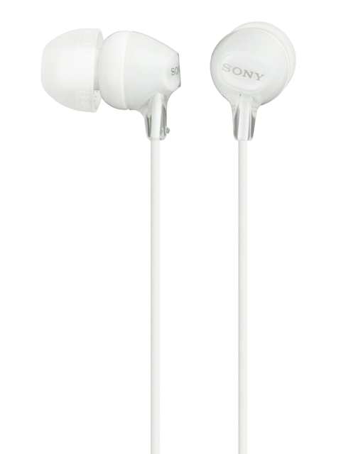Sony White In-Ear Headphones with Mic