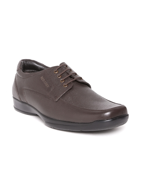 Red Chief Men Coffee Brown Genuine Leather Formal Shoes