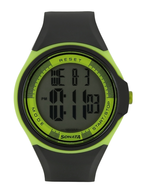 Sonata Men Ocean Series Black Digital Watch NE7992PP10J
