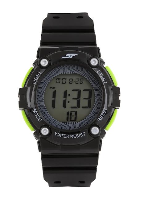 Sonata Ocean Series Men Black Digital Watch 77042PP05