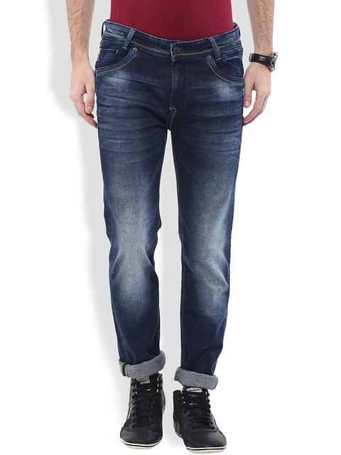 Mufti Navy Narrow Jeans