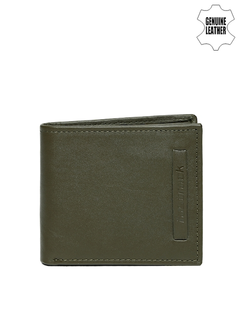 Fastrack Men Olive Green Leather Wallet