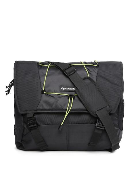 Fastrack Men Black Messenger Bag  available at myntra for Rs.747