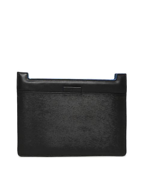 VIARI Unisex Black Leather iPad Sleeve