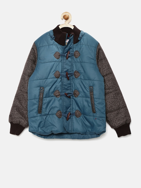 U.S. Polo Assn. Kids Boys Blue Quilted Puffer Jacket
