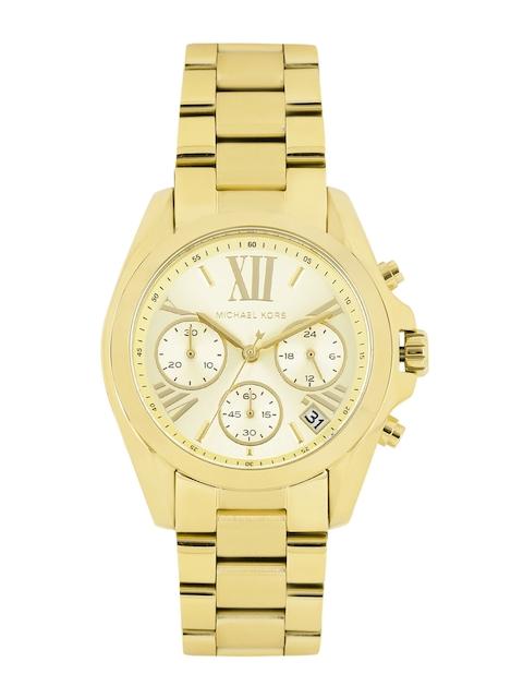 Michael Kors Women Gold-Toned Dial Chronograph Watch MK5798I