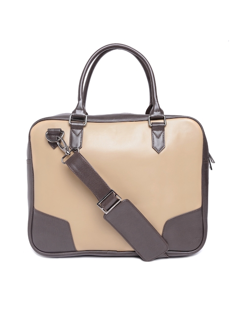 Mohawk Unisex Beige & Brown Laptop Bag