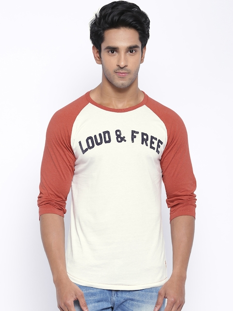 Jack & Jones White & Red T-shirt