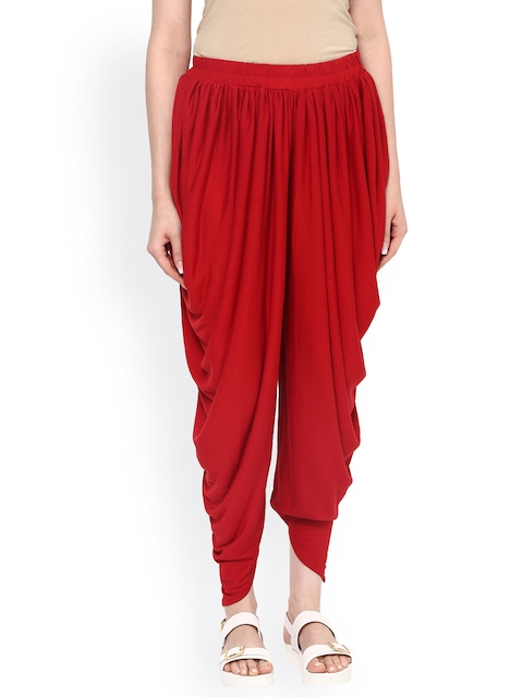 Fusion Beats Red Dhoti Pants